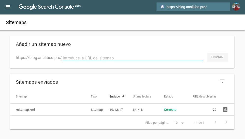 Enviar Sitemap.xml en search console