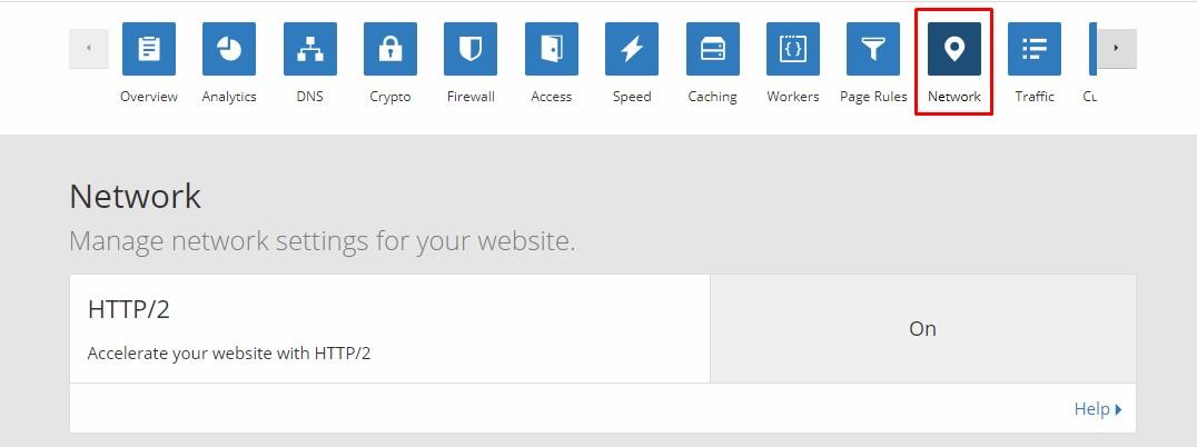 activar http 2 en cloudflare