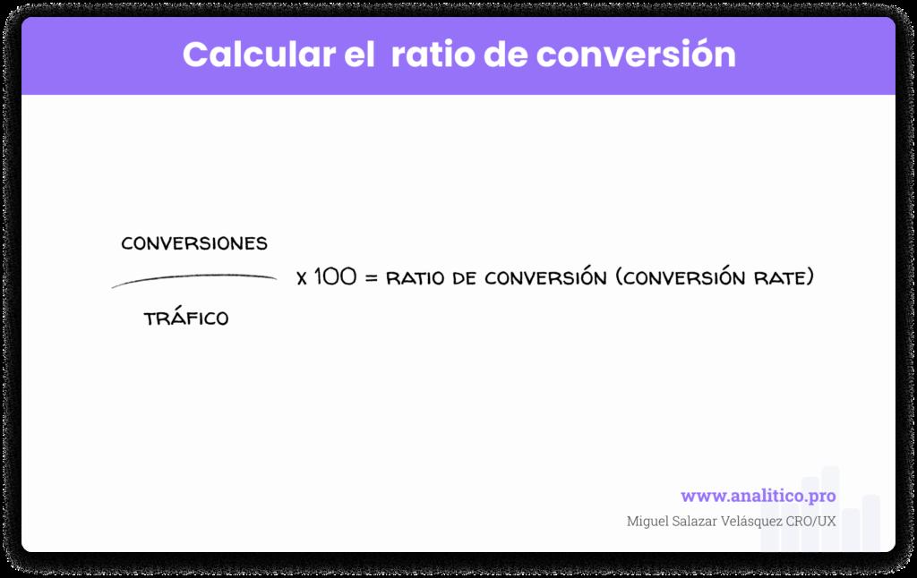 Formula para calcular el Ratio de Conversión